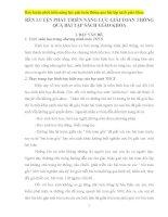 SKKN HÌNH HỌC 9 Rèn luyện phát triển năng lực giải toán thông qua bài tập sách giáo khoa