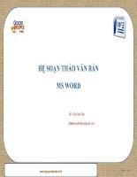 Bài giảng MS Word 2010