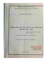 Những đóng góp của Thế Lữ vào giai đoạn văn học (1930-1945
