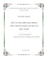 Dấu ấn hậu hiện đại trong tiểu thuyết Thập tam bộ của Mạc Ngôn TT.PDF