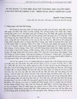 Sự đa dạng và nét độc đáo về văn hoa tộc người trên cao nguyên đá Đồng Văn- tiềm năng phát triển du lịch.PDF