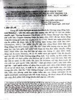 So sánh và đối chiếu các bản dịch thơ Hồ Xuân Hương của một số dịch giả trong và ngoài nước trên bình diện ngữ âm-ngữ nghĩa