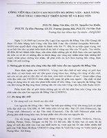 Công viên địa chất Cao nguyên đá Đồng Văn - Khả năng khai thác cho phát triển kinh tế và bảo tồn.PDF