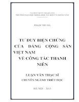 Tư duy biện chứng của Đảng Cộng sản Việt Nam về công tác thanh niên