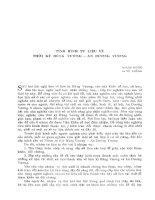 Tình hình tư liệu về thời kỳ Hùng Vương - An Dương Vương