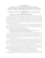 CHUYÊN ĐỀ : NỀN KINH TẾ THỊ TRƯỜNG ĐỊNH HƯỚNG XHCN, TOÀN CẦU HOÁ VÀ HỘI NHẬP QUỐC TẾ CỦA VIỆT NAM