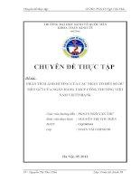 Phân tích ảnh hưởng của các nhân tố đến số dư tiền gửi của Ngân hàng TMCP Công thương Việt Nam VietinBank