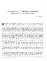 Vị trí văn hóa Lạc Việt thời Hùng Vương trong nền văn hóa Đông Nam Á