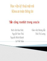 Tấn công rootkit trong Oracle (ppt)
