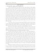 Kế toán chi phí sản xuất và tính giá thành sản phẩm nước tinh khiết tại nhà máy Thành Hưng – thuộc Công ty CP ĐTXD – Khai thác khoáng sản – Trồng rừng Việt Nam