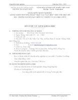 """SKKN LỒNG GHÉP PHƯƠNG PHÁP """"BÀN TAY NẶN BỘT"""" ĐỐI VỚI MỘT SỐ BÀI TRONG GIẢNG DẠY MÔN TỰ NHIÊN VÀ XÃ HỘI LỚP 2"""