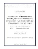 Nghiên cứu và chế tạo màng mỏng nanô TiO2 trên nafion membrane để nâng cao hiệu suất của pin nhiên liệu dùng methanol trực tiếp (DMFC)