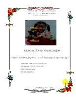 SKKN Một số biện pháp giúp trẻ 4 đến 5 tuổi hoạt động tốt ở góc học tập