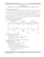 Thiết kế tổ chức thi công nhà công nghiệp 1 tầng, mặt cắt ngang công trình A1, cao trình đỉnh cột 13m, chiều rộng nhà L1=L2=L3=18m,chiều dài bước cột biên 6m, cột giữa 6m, số bước cột biên 14
