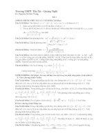 tuyển tập đề thi thử môn toán đại học 2015