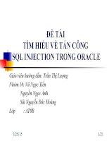 TÌM HIỂU TẤN CÔNG SQL INJECTION TRONG ORACLE ppt