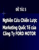 Nghiên Cứu Chiến Lược Marketing Quốc Tế của Công Ty FORD MOTOR