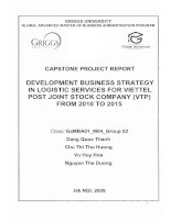 Development business strategy in logistic services for Viettel Post Joint Stock Company (VTP) from 2010 to 2015