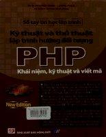 Kỹ thuật và thủ thuật lập trình hướng đối tượng PHP - Khái niệm, kỹ thuật và viết mã.