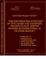 The distribution strategy of OTC (over the counter) products for unites pharma international in Vietnam market