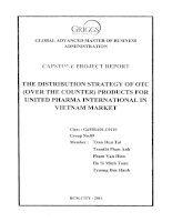 The distribution strategy of OTC (Over the counter) products for United Pharma International in Vietnam market