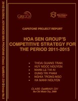 Hoa sen group's competitivestrategy for the period 2011 - 2015
