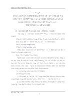 TỔ CHỨC BỘ MÁY KẾ TOÁN VÀ HỆ THỐNG KẾ TOÁN TẠI CÔNG TY TNHH SẢN XUẤT – THƯƠNG MẠI BẾN NGHÉ