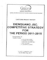 DienQuang JSC. competitive strategy for the period 2011-2015