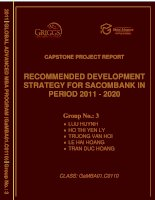 Recommended development strategy for Sacombank in period 2011 - 2020