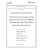 Build business strategy in the period of 2011-2015 for Military Commercial Joint Stock Bank- Dien Bien Phu Branch
