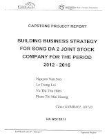 Building business strategy for Song Da 2 joint stock company for the period 2012 - 2016