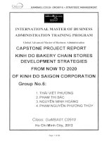 Capstone project report Kinh Do Bakery chain stores development strategies from now to 2020 of Kinh Do Saigon corporation