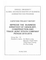 Improve the business strategy of Hanoi Art, Construction and Trade Joint stock Company period 2010-2015