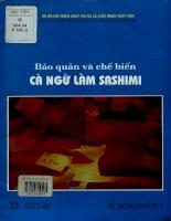 Bảo quản và chế biến cá Ngừ làm Sashimi - Sổ tay kỹ thuật số 1