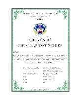 Phân tích tình hình hoạt động thanh toán không dùng tiền mặt tại Ngân hàng TMCP Ngoại thương Việt Nam