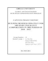 Building business strategy for military insurance corporation in the period of 2011 - 2015