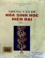 Những vấn đề hóa sinh học hiện đại