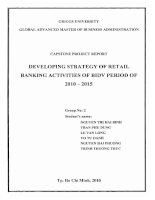 Developing strategy of retail banking activities of BIDV period of 2010-2015