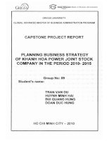 Planning business strategy of Khanh Hoa Power Joint Stock Company in the period 2010-2015