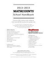 Mathcounts SCHOOL HANDBOOK