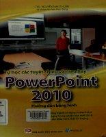 Tự học các tuyệt chiêu và mẹo hay Microsoft PowerPoint 2010 - Hướng dẫn bằng hình