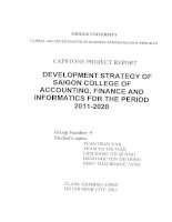 Development strategy of Saigon College of Accounting, Finance and Informatics for the period 2011-2020