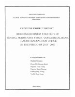 Building business strategy of global Petro Joint Stock Commercial Bank - Hanoi transaction office in the period of 2013-2017