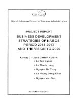 Business development strategies of the National Southern Oil Spill Response Center (NASOS) period 2013-2017 and the vision to 2020