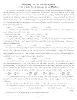 Tổng hợp các câu hỏi trắc nghiệm về di truyền học trong các đề thi Đại học