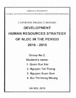 Development human resources strategy of NLDC in the period 2010-2015