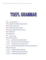 TOEFL GRAMMAR ( tài liệu du học)