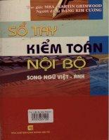 Sổ tay kiểm toán nội bộ - Song ngữ Việt - Anh