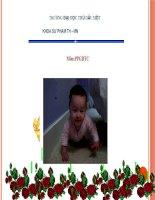 slide thuyết trình Đặc điểm vận động trẻ 1-3 tuổi