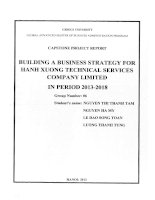 Building a business strategy for Hanh Xuong Technical Services Company Limited in period 2013-2018